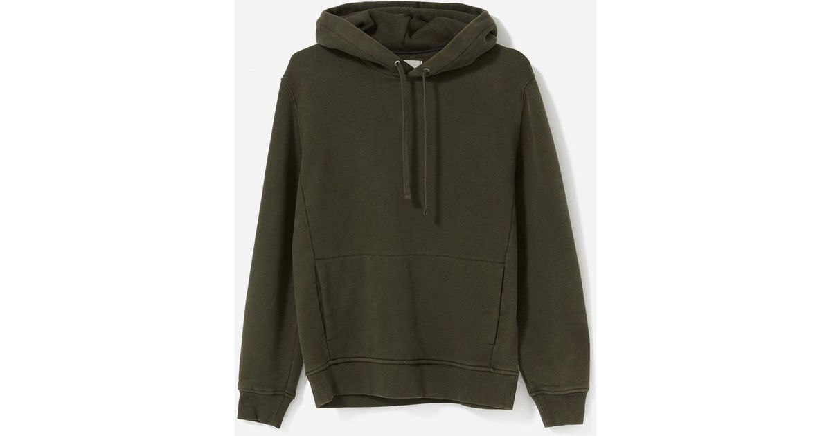 e9942a52b319 Lyst - Everlane The 365 Fleece Hoodie in Green for Men