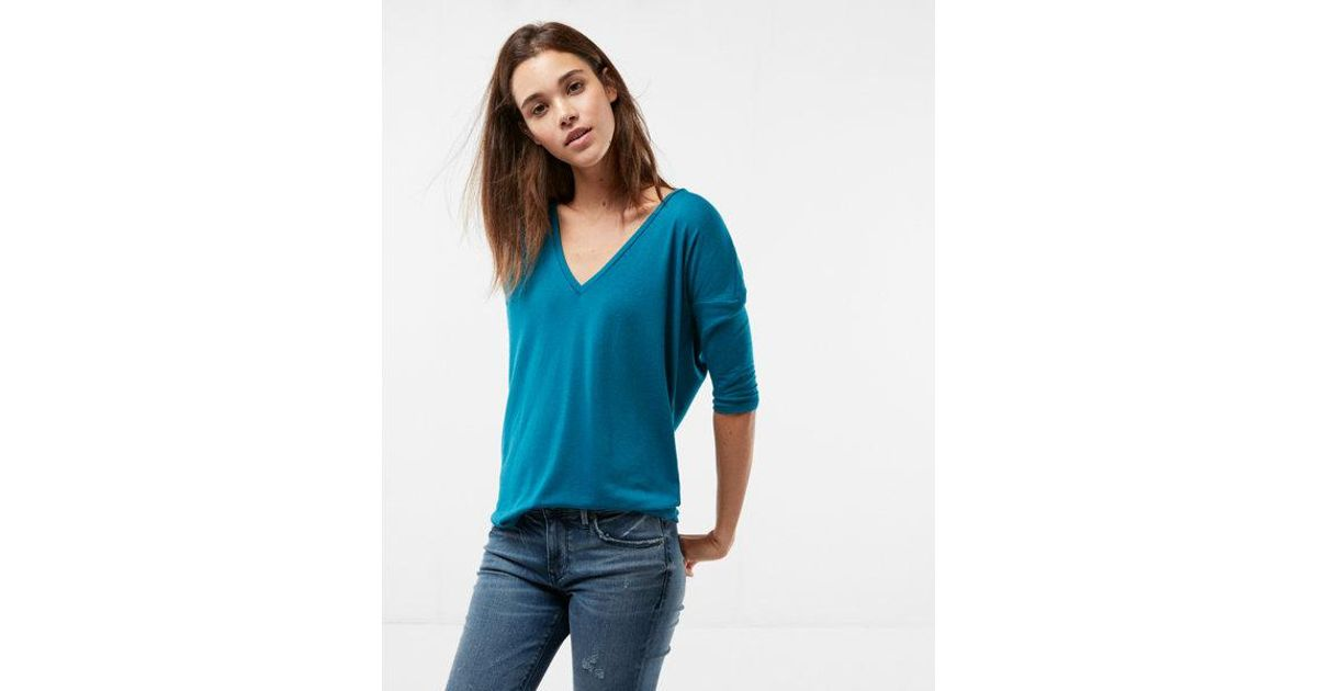 a27fee88 Lyst - Express One Eleven V-neck London Tee in Blue