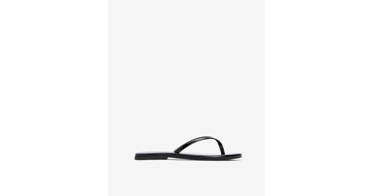 6acac690cfb Lyst - Express Shiny Flip Flops in Black