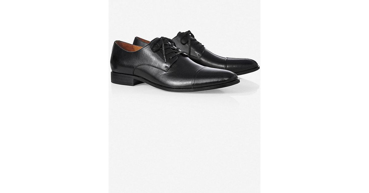 express leather oxford dress shoe in black for lyst