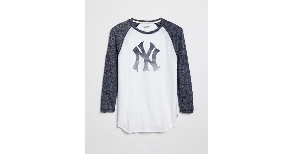 Lyst - Express New York Yankees Baseball Tee in Blue for Men 8da287b23e0