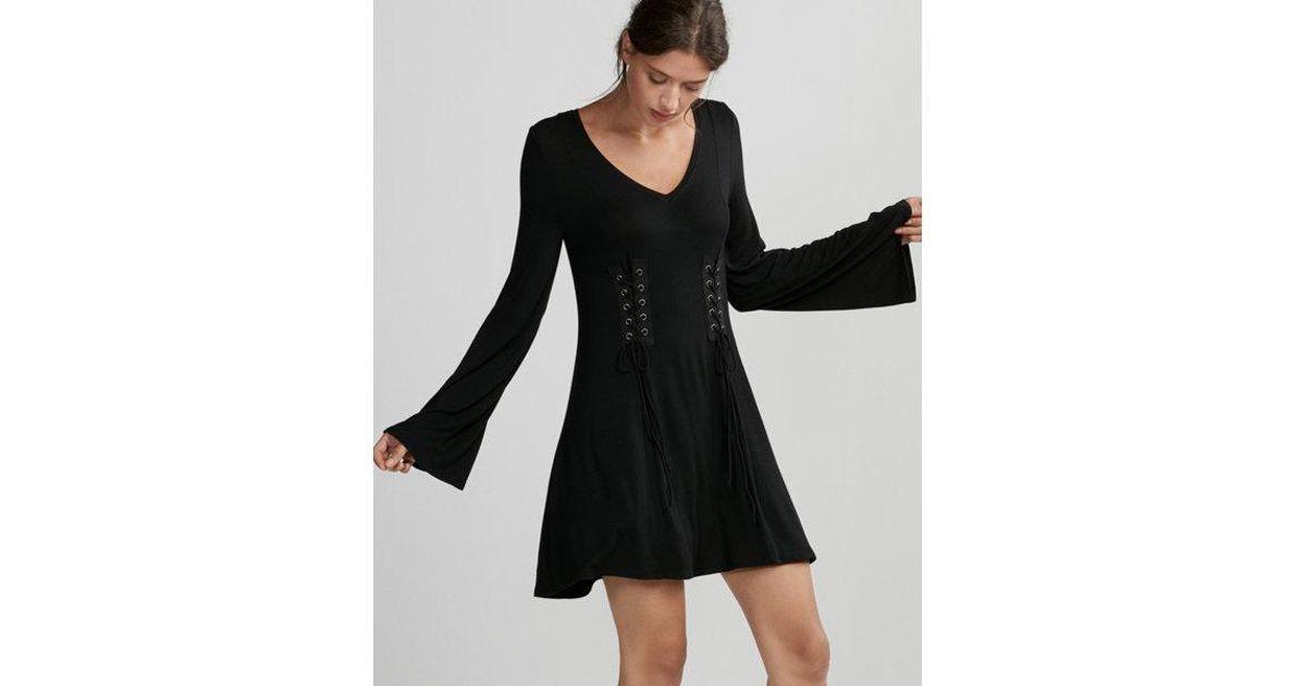 fcc73b8acf Lyst - Express Double Corset Trapeze Dress in Black