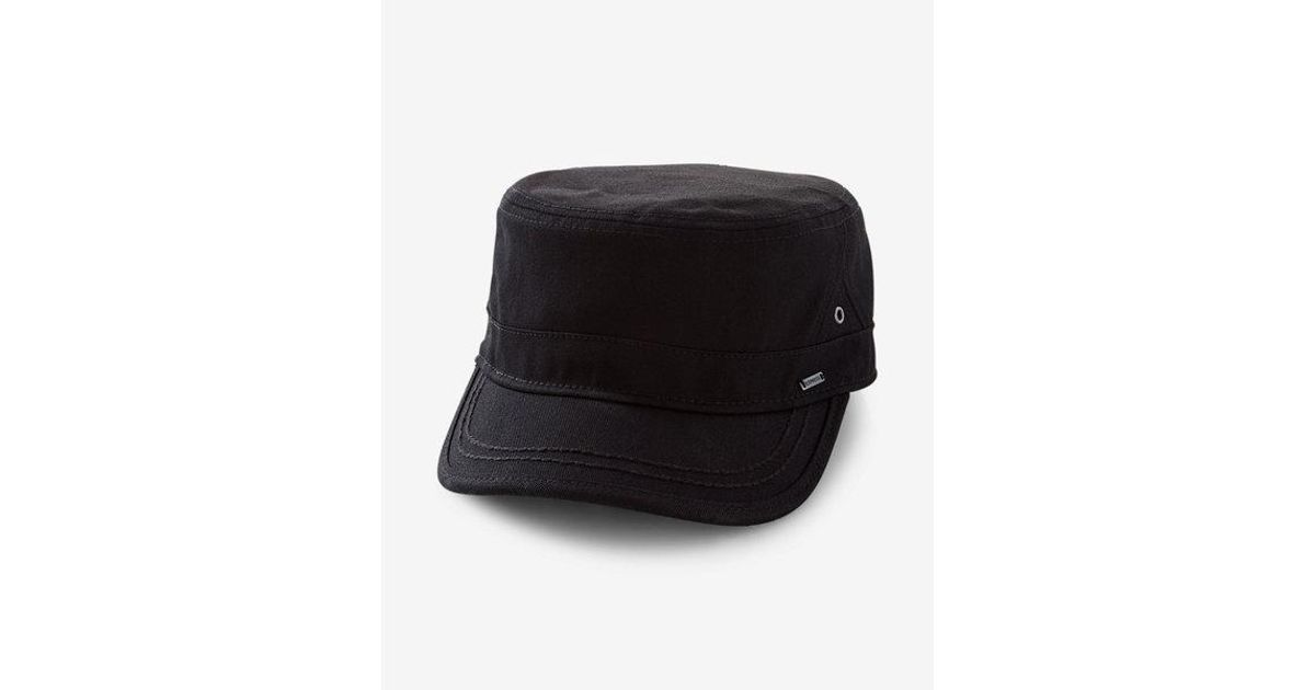 Lyst - Express Canvas Military Hat in Black for Men a181889681a