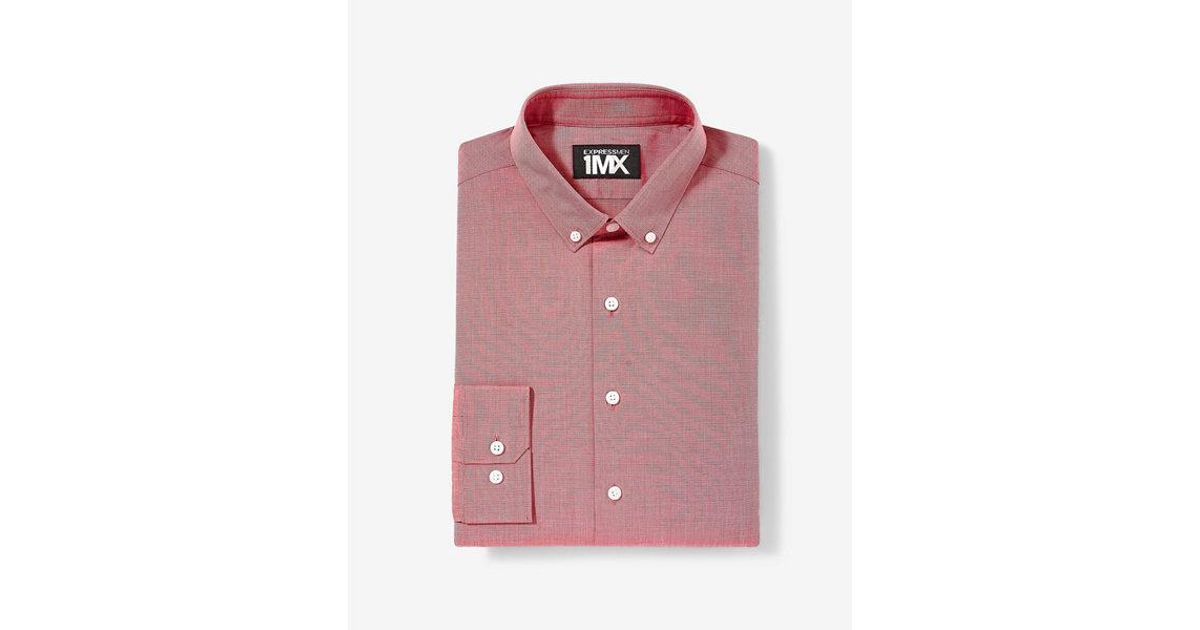 b9cda94604c Lyst - Express Classic Fit Easy Care 1mx Shirt in Red for Men