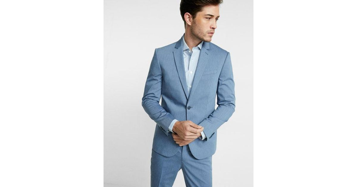 Express Slim Photographer Cotton Sateen Suit Jacket In Blue For Men Lyst