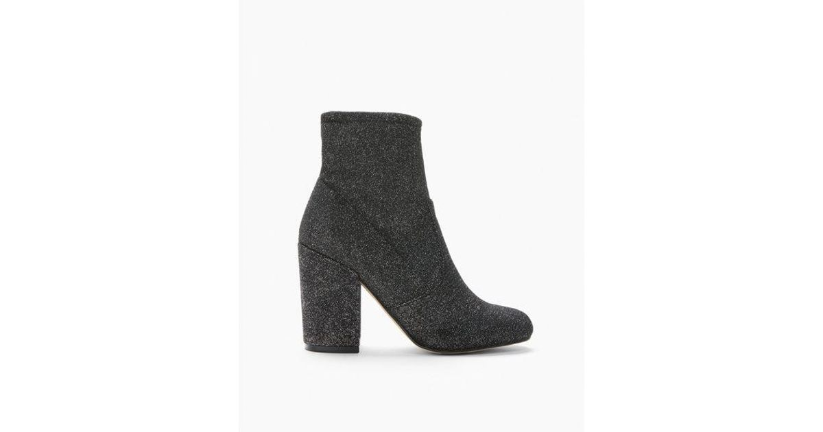 Express Sparkle Stretch Sock Boots in