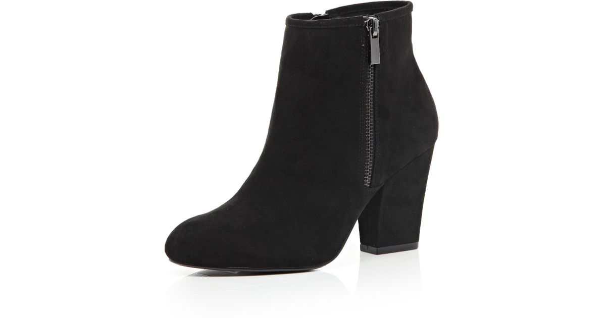 ever popular great look later River Island Black Zip Side Heeled Ankle Boots