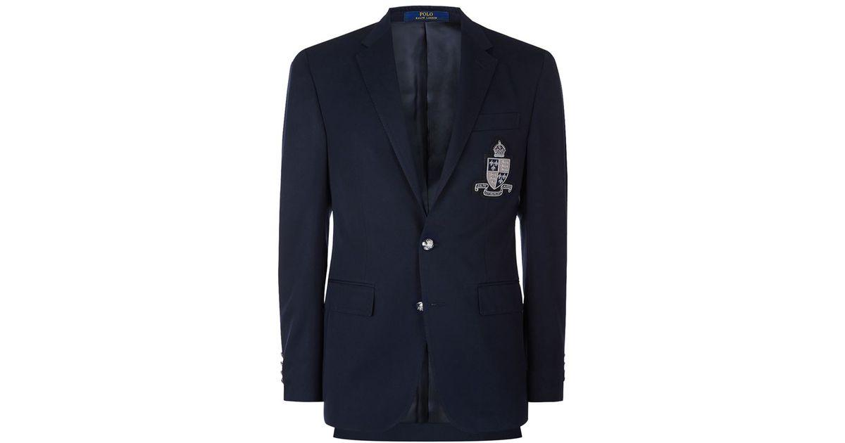 769dd530f932 Polo Ralph Lauren Polo Crest Wool Blazer in Blue for Men - Lyst