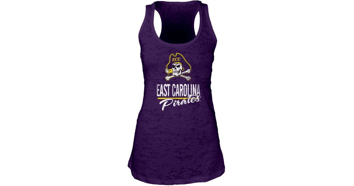Blue 84 Women 39 S East Carolina Pirates Racerback Burnout
