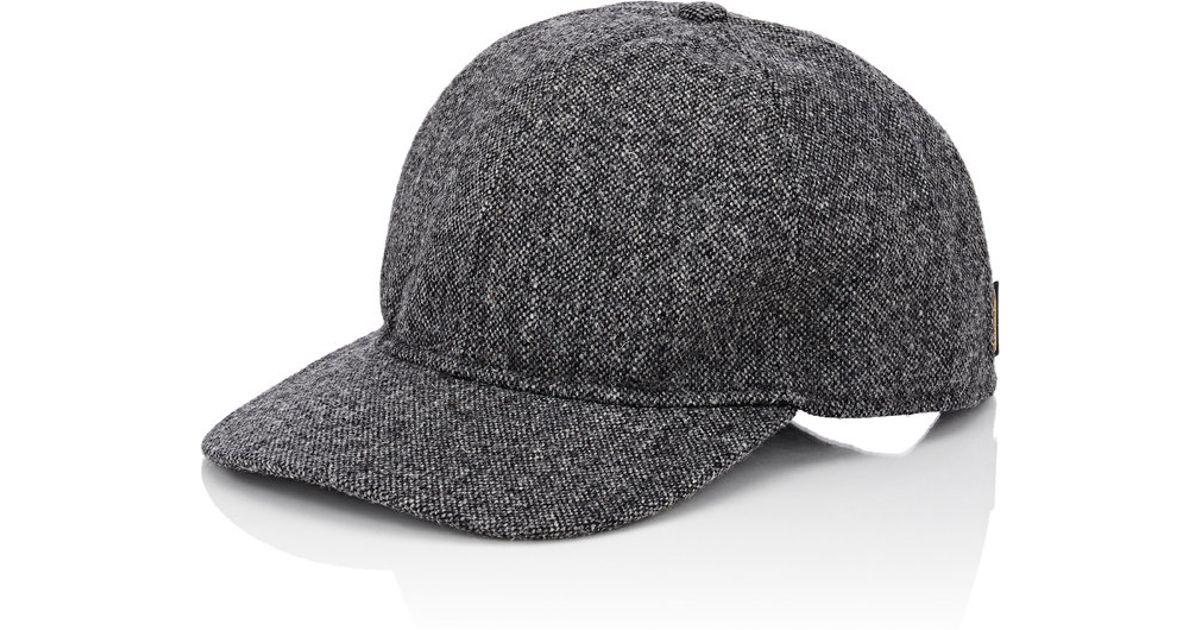 Lyst - Borsalino Men s Tweed Baseball Cap in Gray for Men 5ae68bdaa63