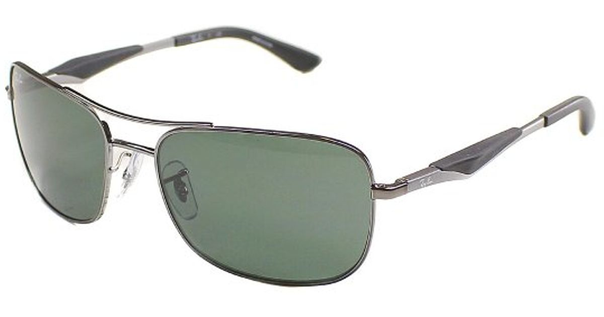 b507a54d48 Lyst - Ray-Ban Ray Ban Rb3515 004 71 Rectangle Metal Sunglasses-61mm in  Metallic for Men