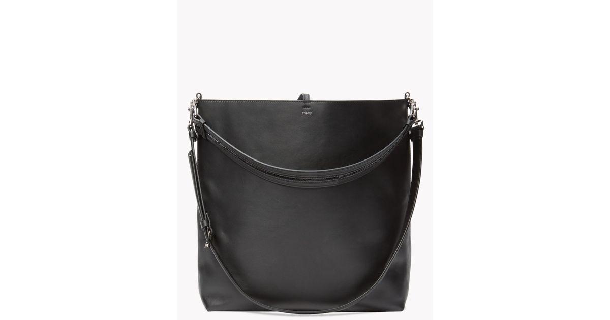 2ce1d218fda Lyst - Theory Urban Bucket Bag In Linden in Black