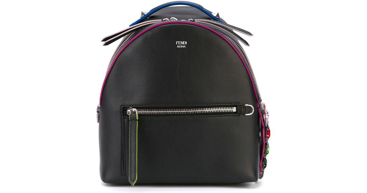 Strange Fendi Black Mini Backpack Dailytribune Chair Design For Home Dailytribuneorg