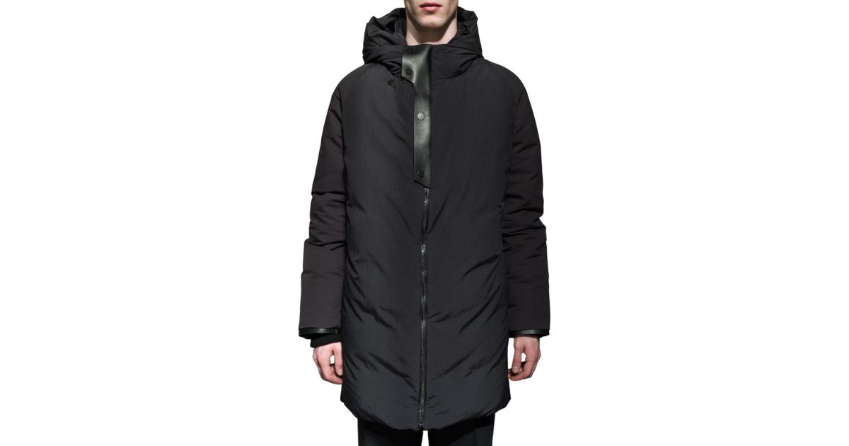 Balenciaga Long Black Down Jacket in Black for Men | Lyst