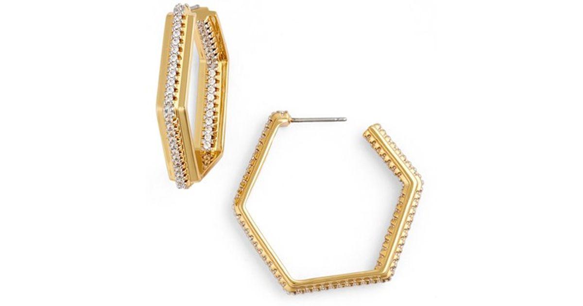 Rachel Zoe Elyse Multi-Hoop Earrings Gold 45F9DKXw5d