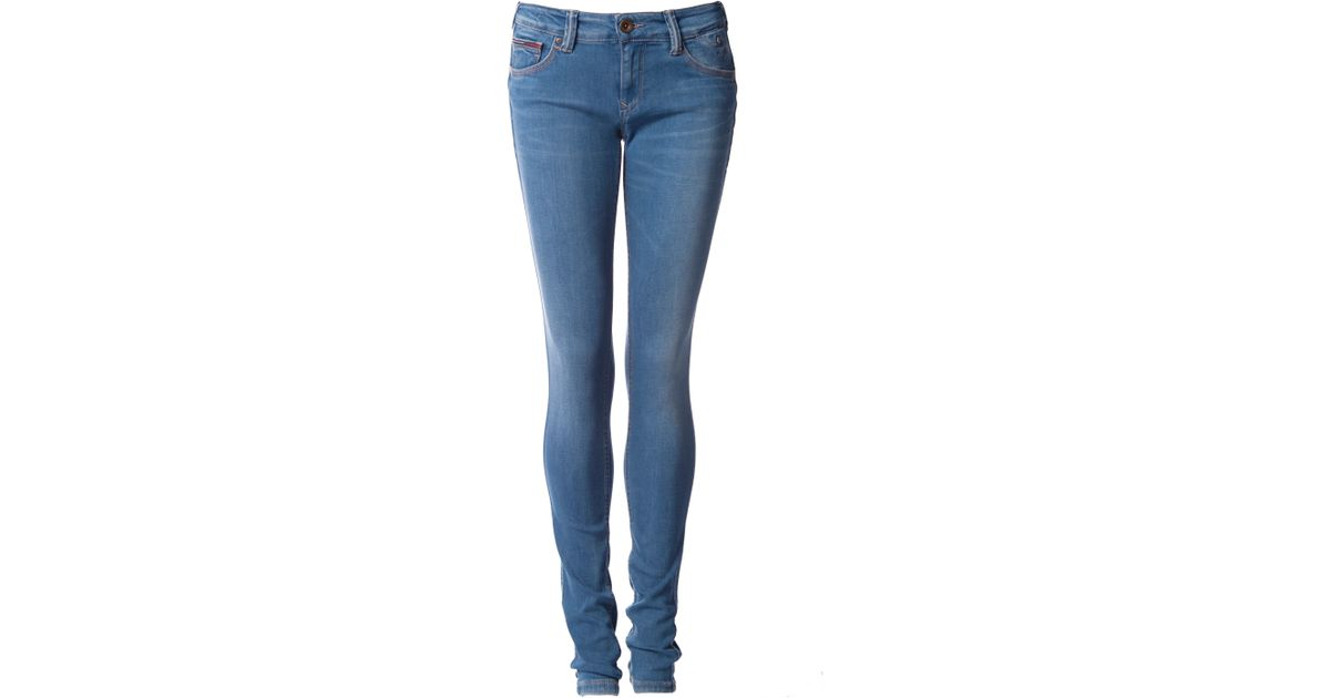 tommy hilfiger sophie skinny jeans in blue lyst. Black Bedroom Furniture Sets. Home Design Ideas