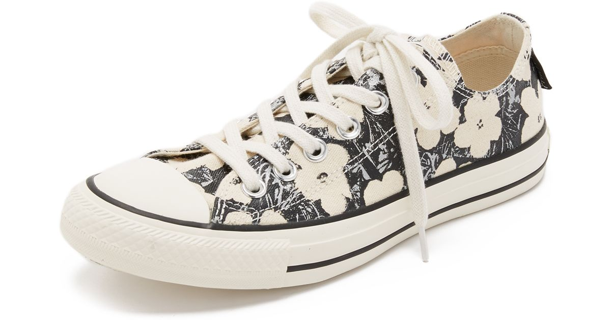 Lyst  Converse Chuck Taylor All Star X Andy Warhol Sneakers  Naturalblack egret in Natural