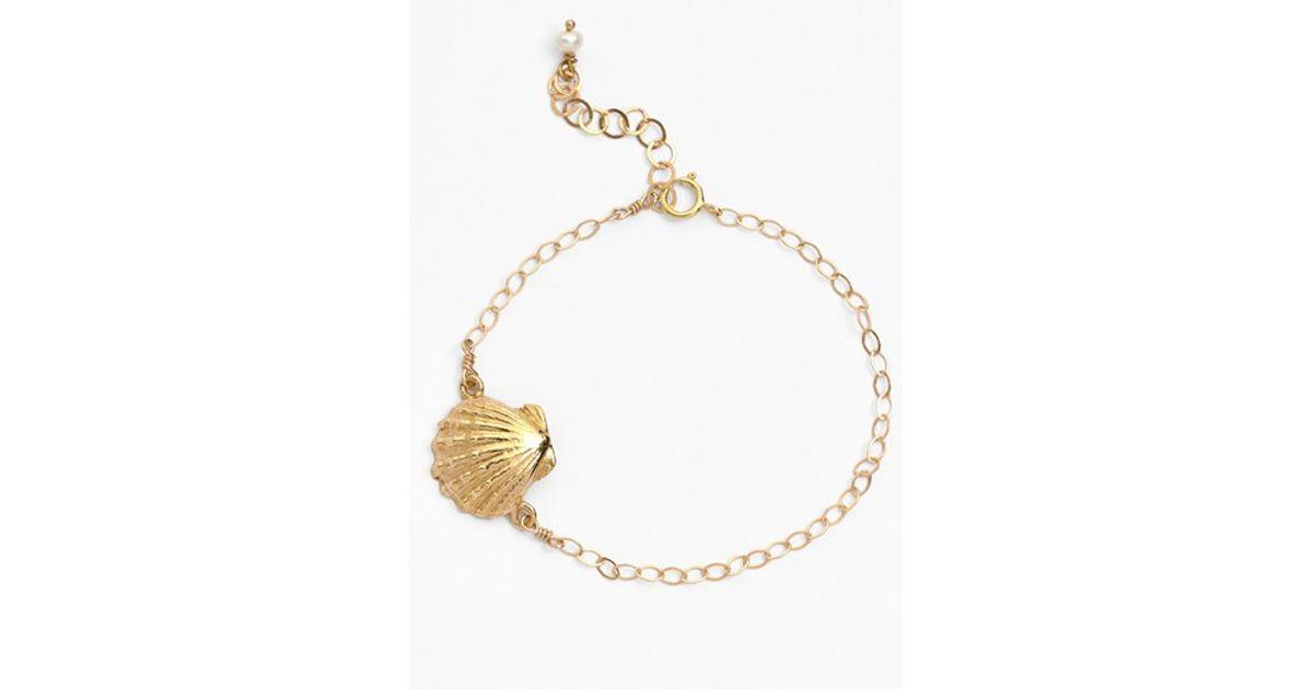 39de0929e Ki-ele 'golden Sunrise' Shell Charm Bracelet in Metallic - Lyst