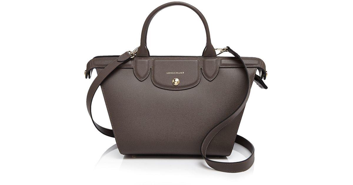 Longchamp Brown Satchel - Le Pliage Heritage Medium
