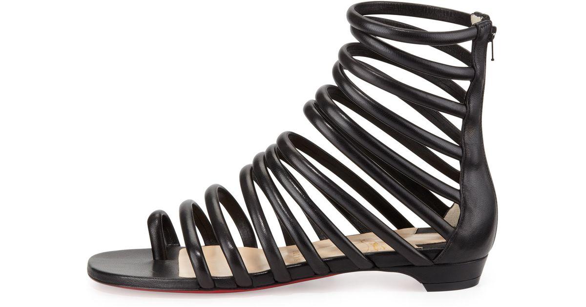 792a61b5d62f ... sweden lyst christian louboutin catchetta napa gladiator sandal black  in black 58271 02b83