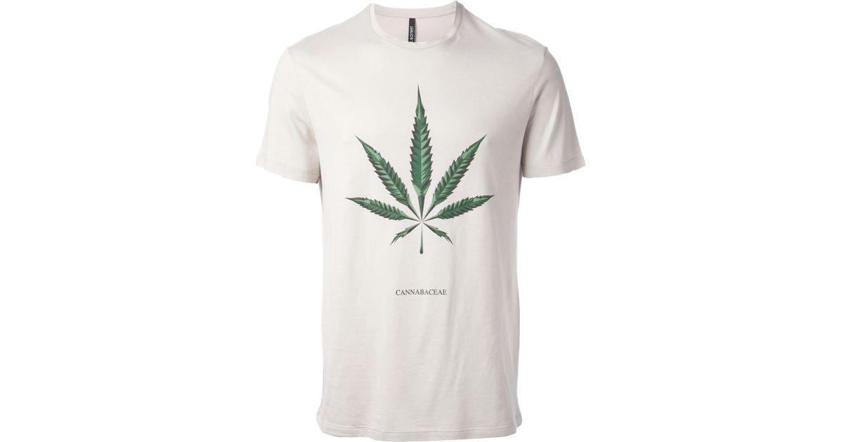 b2179ebb Neil Barrett 'Maria' Hemp Print T-Shirt in Gray for Men - Lyst