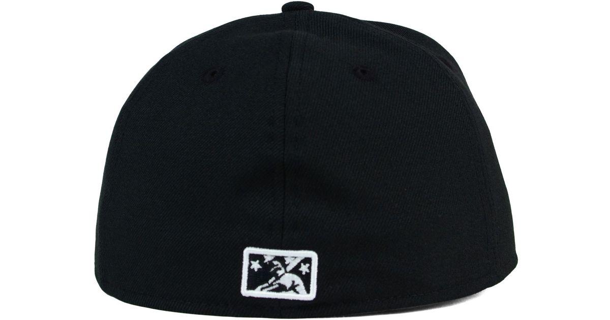 38c3076e KTZ Black Syracuse Chiefs B-dub 59fifty Cap for men