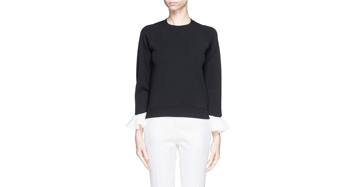 contrast ruffle sleeve jumper - Black Valentino With Mastercard For Sale Cheap Wholesale Price Sale Get Authentic Clearance Cheap Online Cheap Newest 0Icso