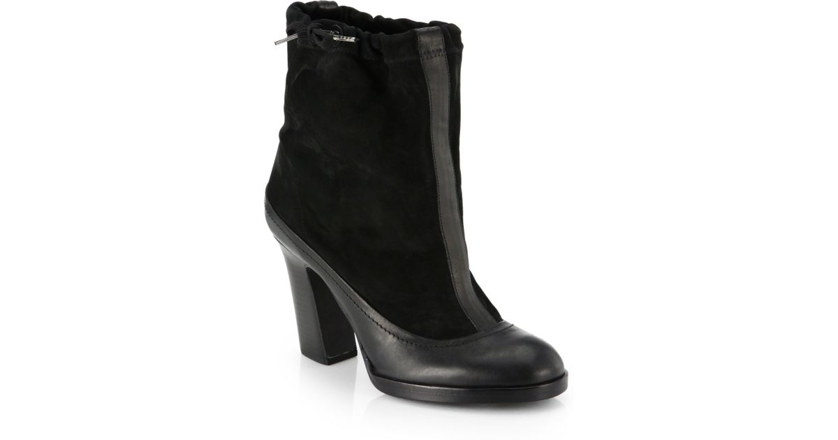 197324ba0aff92 Lyst - Rag   Bone Holt Suede Leather Ankle Boots in Black