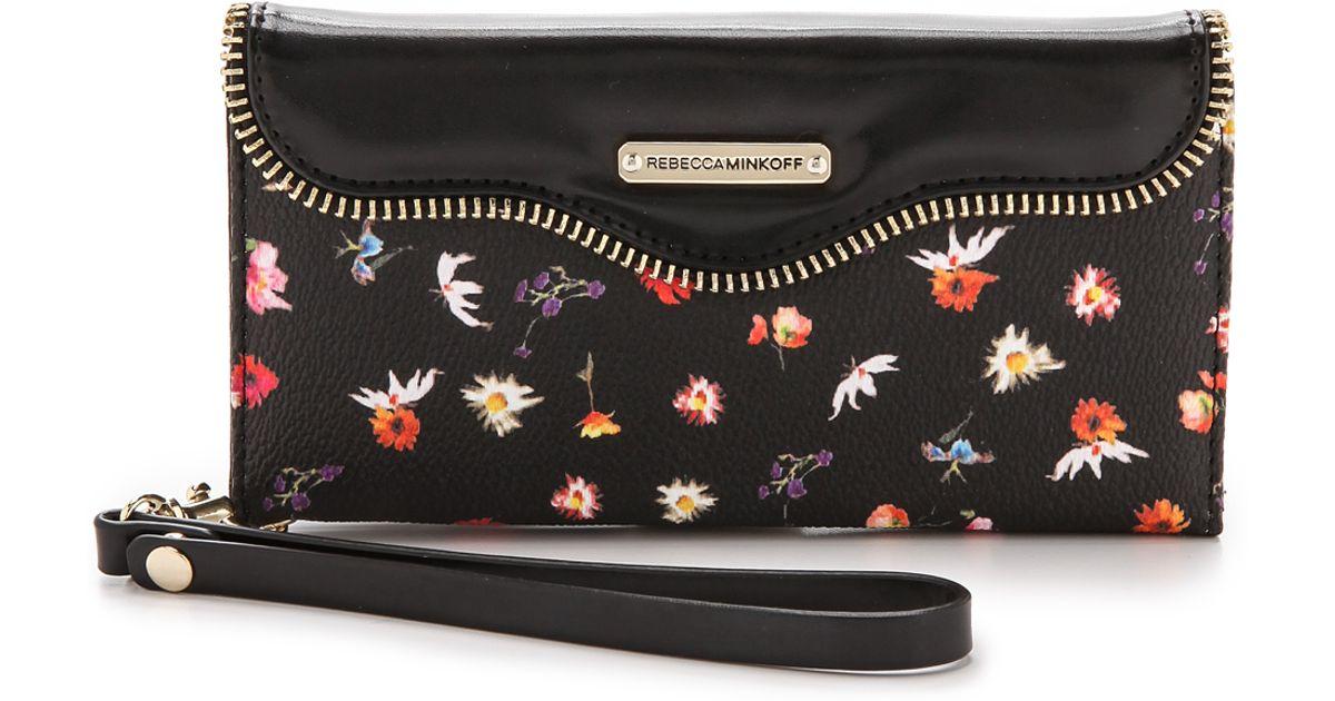 check out b1795 a869d Rebecca Minkoff Multicolor Iphone 6 Plus Folio Wristlet - Botanical Floral