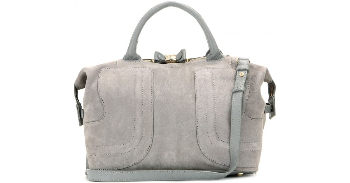 Tote See Kay Chloé Suede Gray By ZOPkiuX
