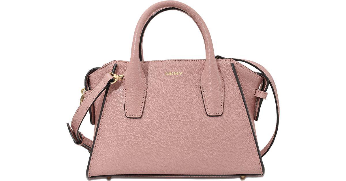 Dkny Chelsea Mini Satchel Bag in Pink | Lyst