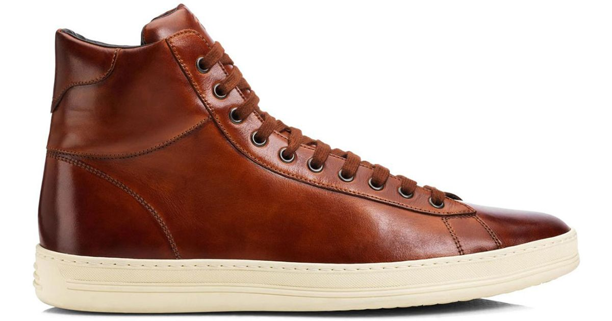 9f899df13be9c Tom Ford Russel High-Top Sneakers in Brown for Men - Lyst