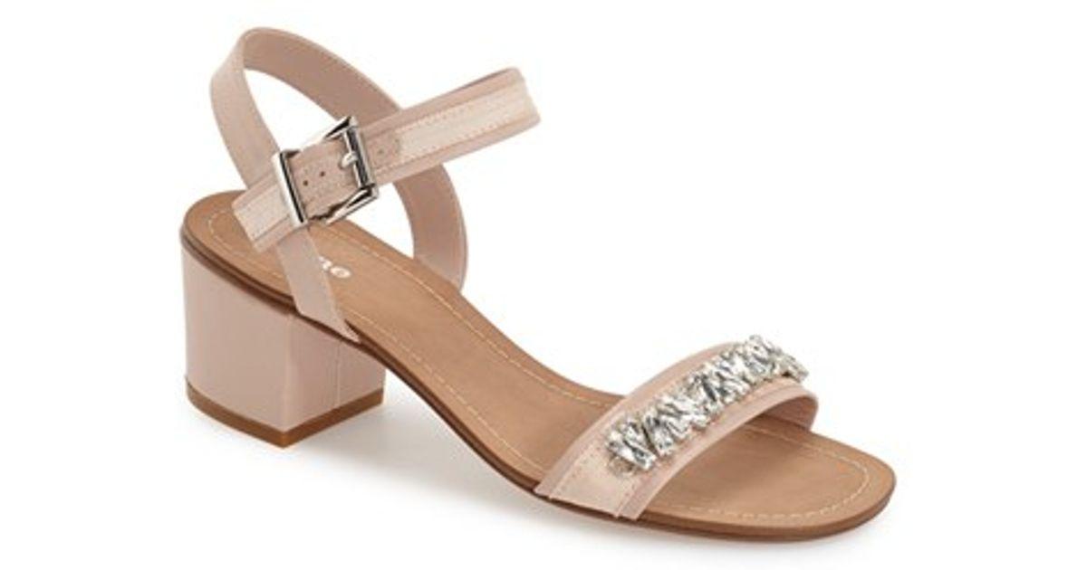 31a54912ee0 Dune Pink 'maisie' Embellished Block Heel Sandal