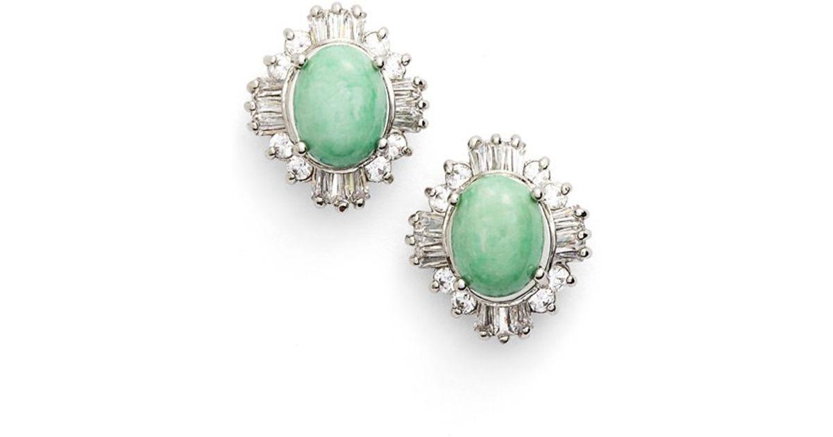 Lyst Samantha Wills Summer Solstice Stud Earrings Jade Silver In Green