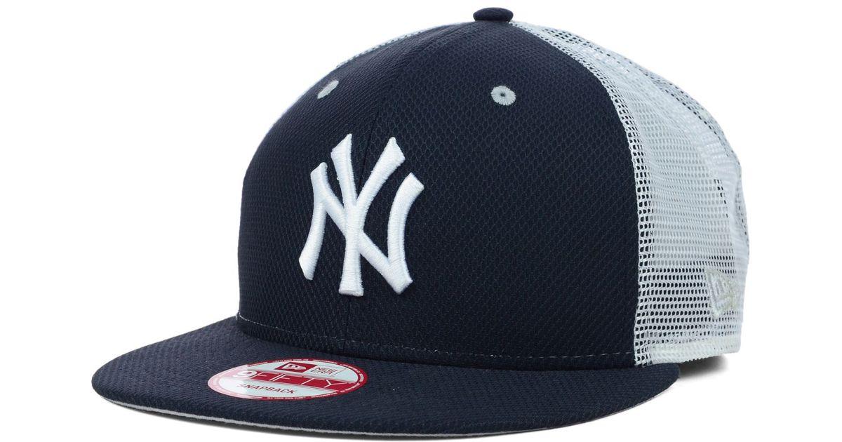 38b92e2a43d Lyst - KTZ New York Yankees Mlb Diamond Mesh 9Fifty Snapback Cap in Blue  for Men
