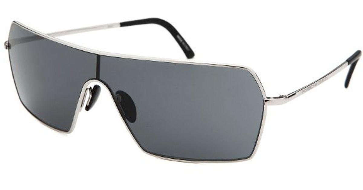 Porsche Design Men S Shield Silver Tone Sunglasses In