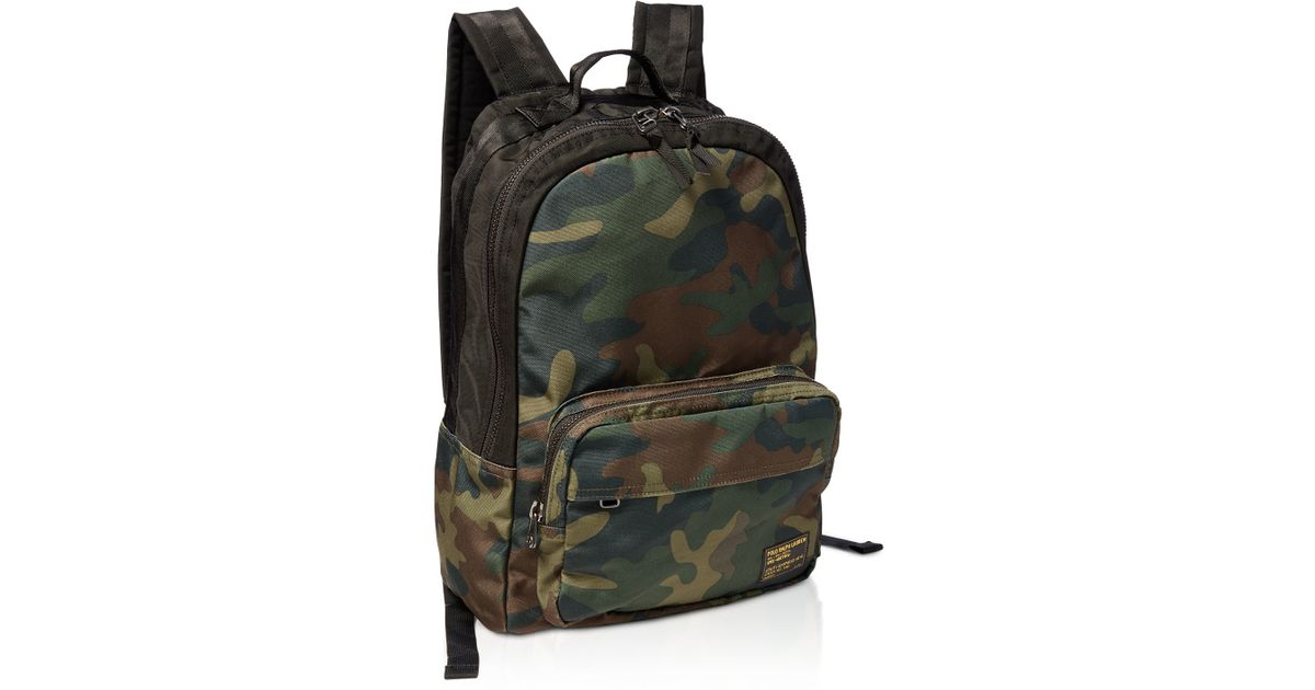 parásito Encantador cocinero  Pink Pony Leather Polo Camo Print Military Backpack in Natural for Men -  Lyst