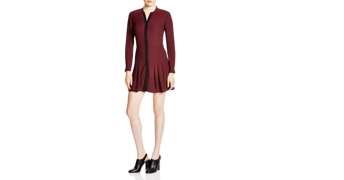 a3aeddcf66 The Kooples Pleated Shirt Dress - Bloomingdale s Exclusive in Red - Lyst