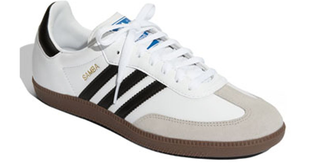 new products 83ae2 e1726 Adidas Originals - White samba Indoor Soccer Shoe - Lyst
