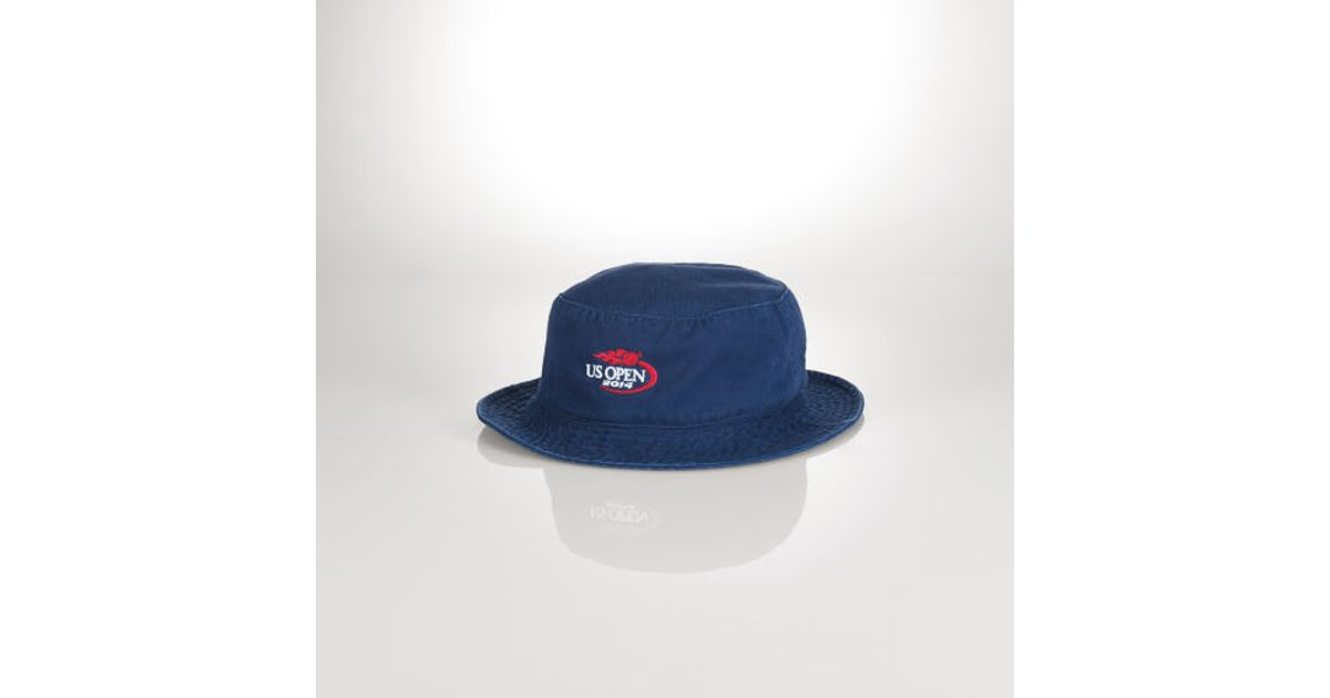 93d4d49b633 Lyst - Polo Ralph Lauren Us Open Bucket Hat in Blue for Men