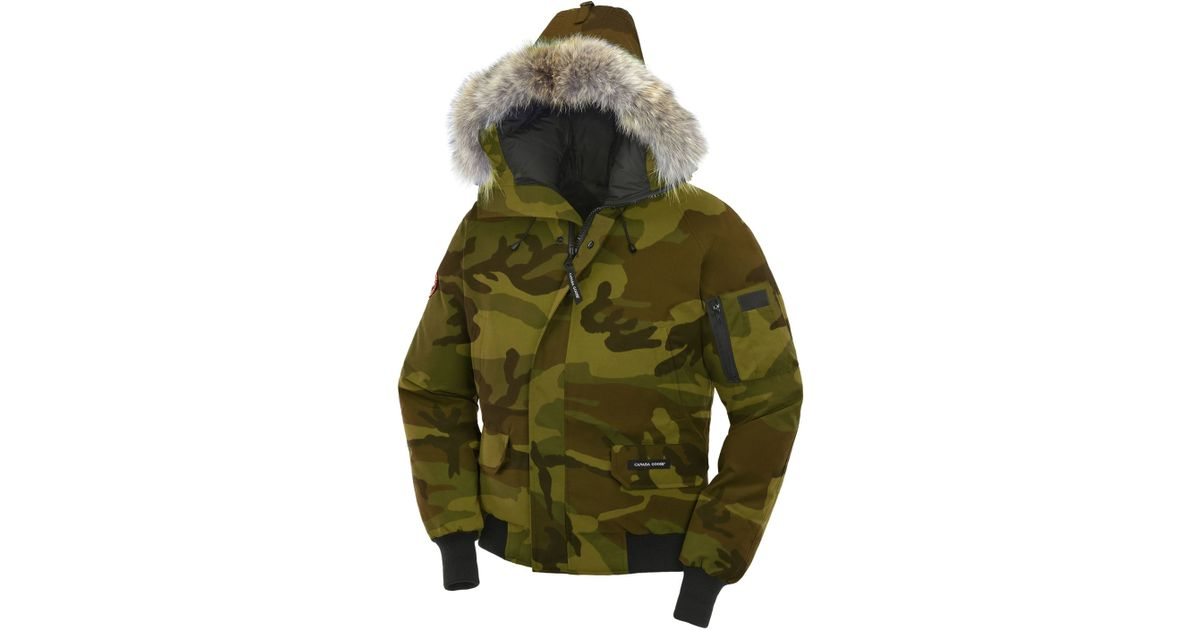 Canada Goose Brown Chilliwack Hooded Bomber Jacket for men