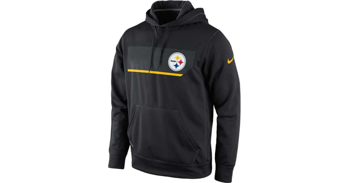 best cheap 044d2 31ed7 Nike - Black Mens Pittsburgh Steelers Performance Hoodie Sweatshirt for Men  - Lyst