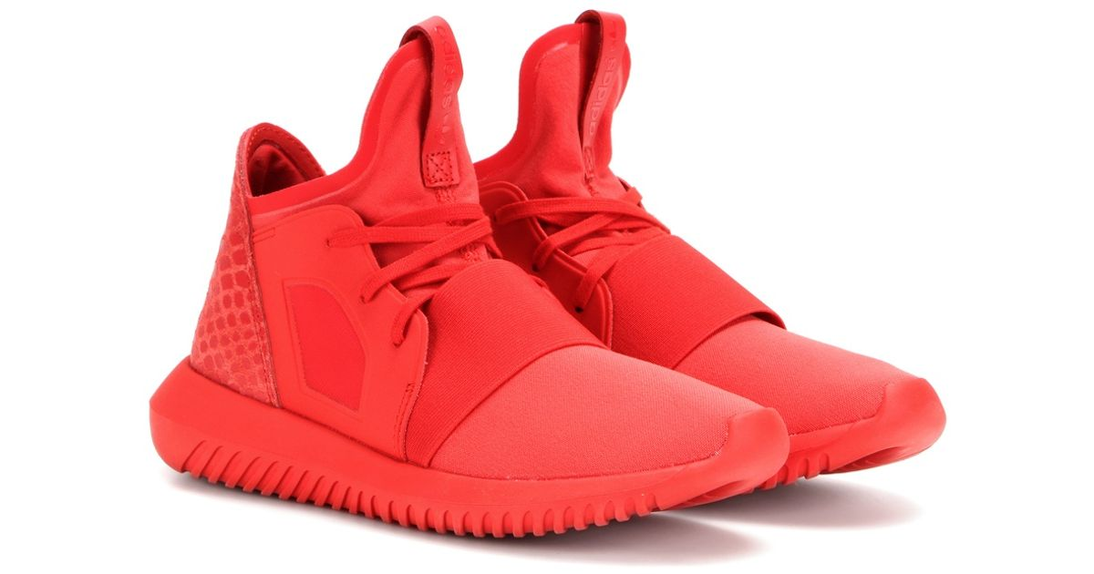 promo code new authentic the best attitude Adidas Originals Red Tubular Defiant Sneakers