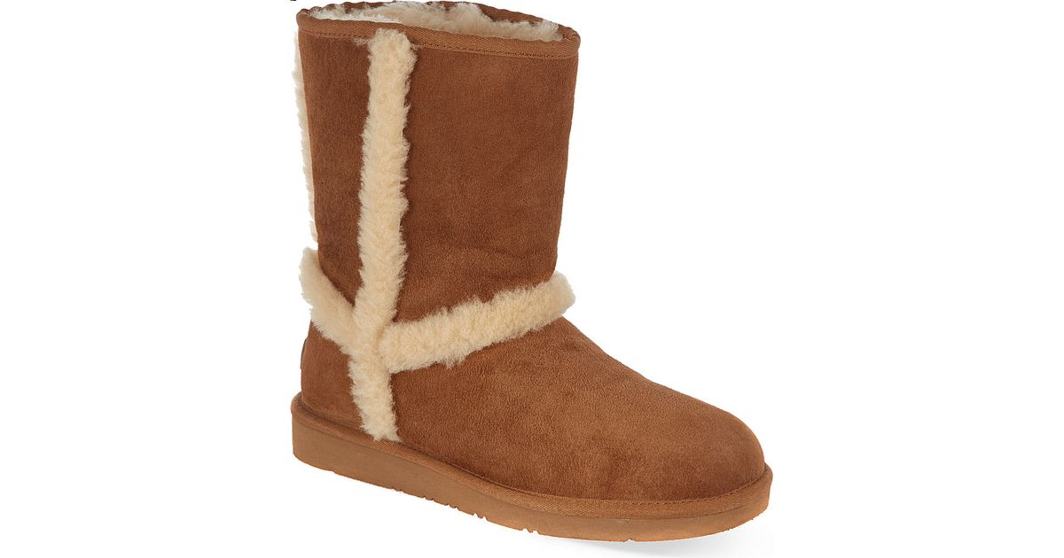 18a91a34a31 UGG Carter Suede Calf Length Boots in Brown - Lyst