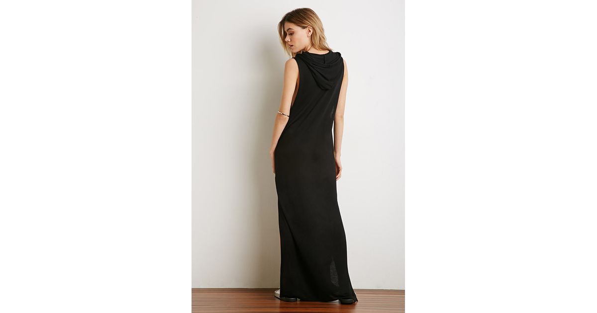 Lyst Forever 21 Hooded Maxi Dress Youve Been Added To The
