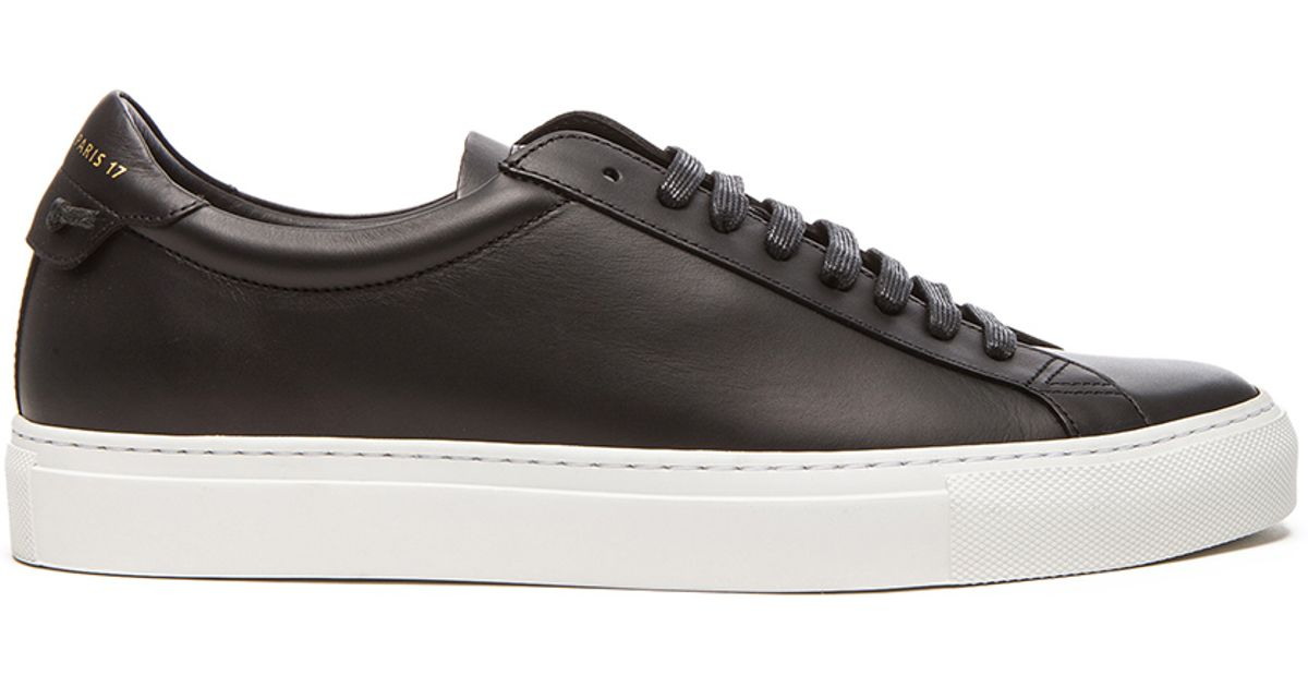Givenchy Knots Low Top Leather Sneakers In Black For Men