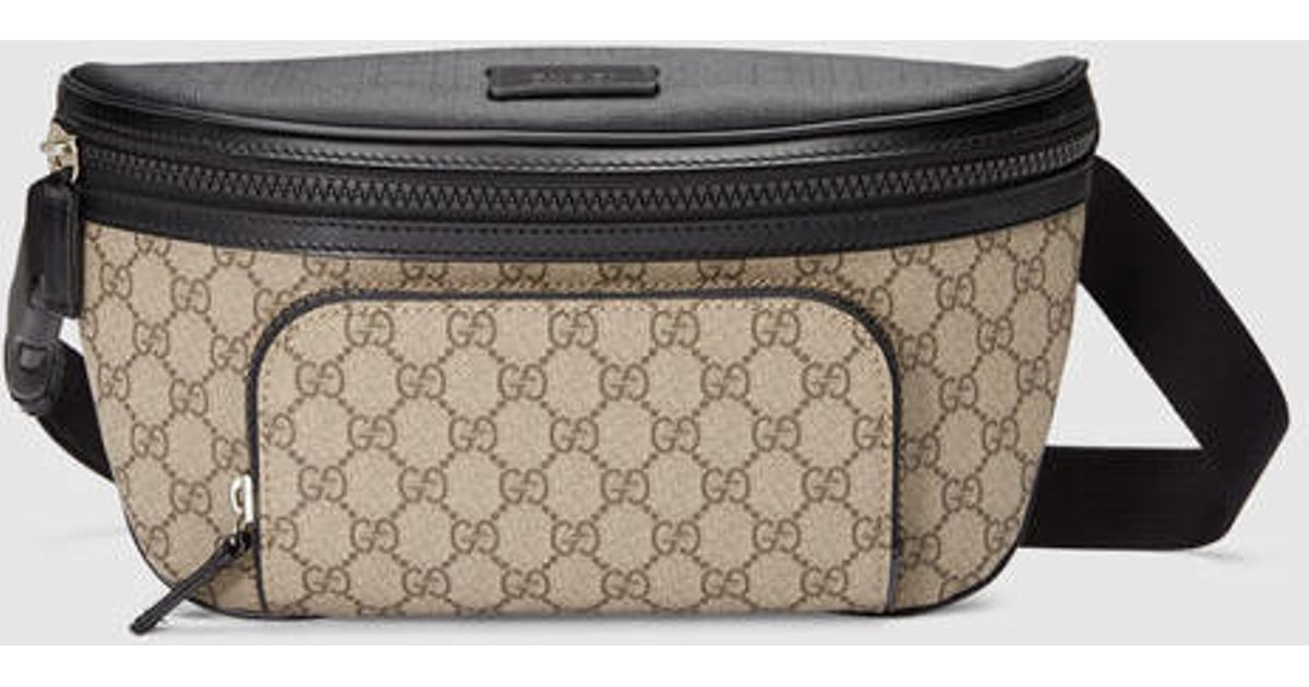 ae73f207b332 Lyst - Gucci Gg Supreme Belt Bag in Natural for Men
