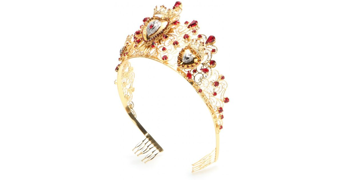 DOLCE /& GABBANA Headband Tiara Black Floral Ladybug Crystal Diadem RRP $1600