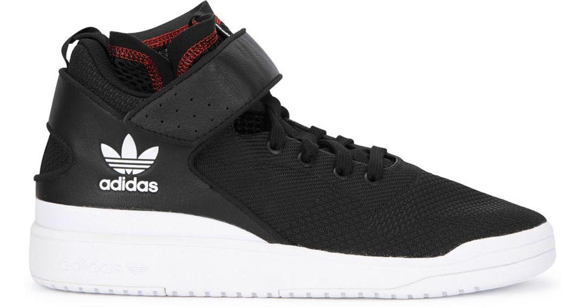 brand new 65f60 784e9 adidas Originals X Veritas Modern Forum Black Woven Trainers in Black for  Men - Lyst