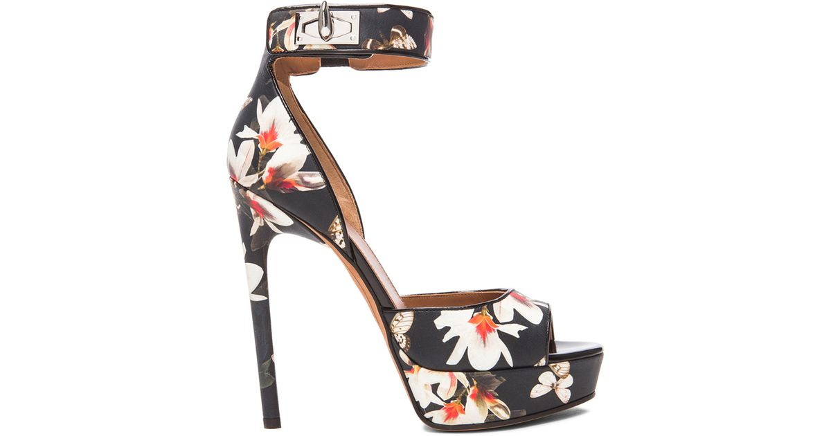 Lyst - Givenchy Shark Lock Magnolia Leather Heels in Black 3031cd0b3